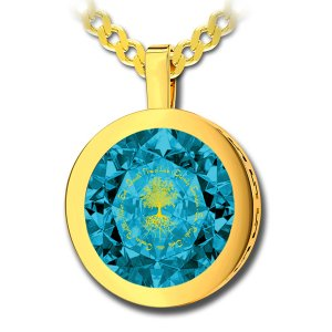 Tree Of Life Pendant By Nano Gold - Gold Plate
