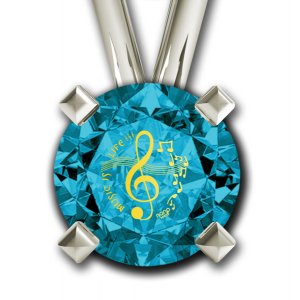 Musical Notes Pendant By Nano Gold - Silver
