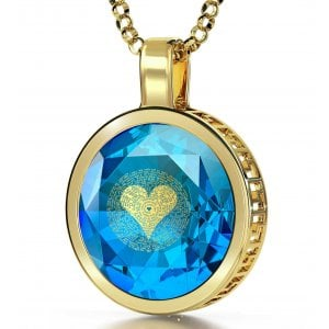I Love You Pendant By Nano Gold - Gold Plate