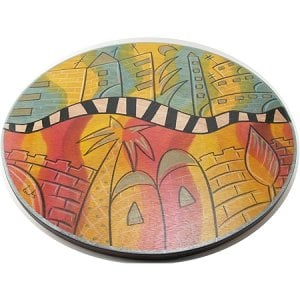 Jerusalem Lazy Susan Composi by Kakadu Art