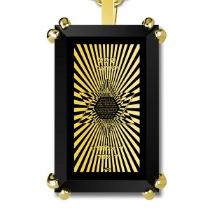 Gold Plated Jewish Pendant For Men Star Of David With Shema Israel