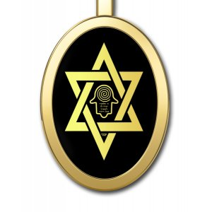 Star Of David With Hamsa Jewish Pendant by Nano Jewelry