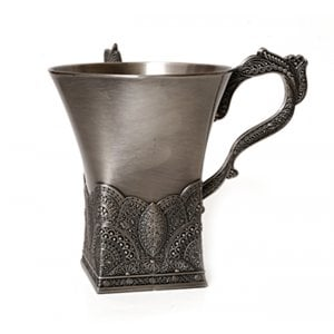 Pewter Filigree Wash Cup Netilat Yadayim