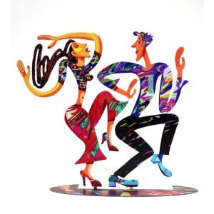 David Gerstein Free Standing Double Sided Sculpture Figures - Dancers