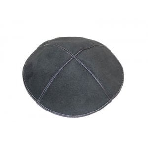 Dark Gray Suede Kippah