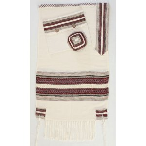 Weaving Creation Hand Woven Tallit Netzach - Eternity