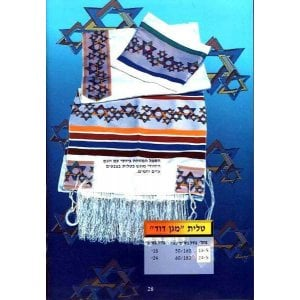 Talitnia Wool and Polyester Star of David Tallit Prayer Shawl