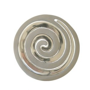 Yair Emanuel Two-in-One Silver Aluminum Trivet - Swirls