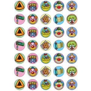 Small Purim Stickers