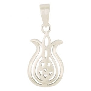 Gold Filled Rhodium Pomegranate Pendant