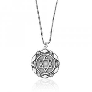 Silver Star of David Pendant from Golan Studio