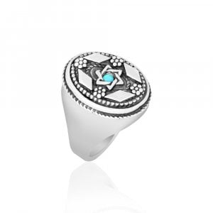Silver Star of David Ring from Golan Studio