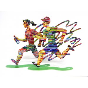 David Gerstein Free Standing Double Sided Sculpture Set of Runners - Joggers