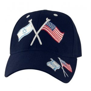 Israel-US Flag Black Cap