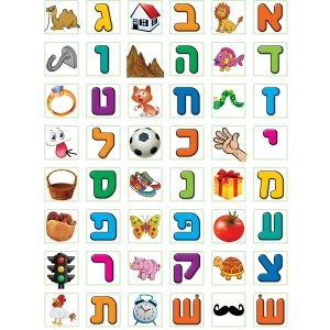 Small Alef Bet Learning Stickers