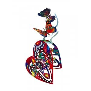 David Gerstein Free Standing Double Sided Heart Sculpture - Open Heart