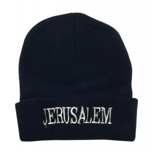 Jerusalem Black Knit Cap