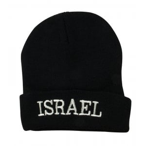 Israel Black Knit Cap