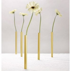 Golden Aluminum Magnetic Vase