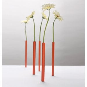 Red Aluminum Magnetic Vase