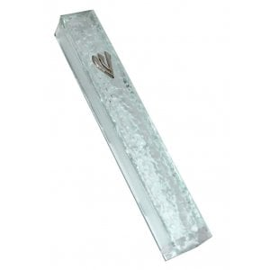 Transparent Glass Mezuzah Case – Rippling Waves Design