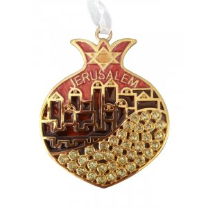 Jerusalem in Red Pomegranate Wall Hanging