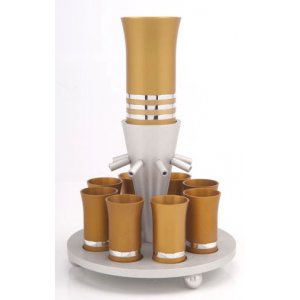 Agayof Wine Fountain - Gold and Silver Color
