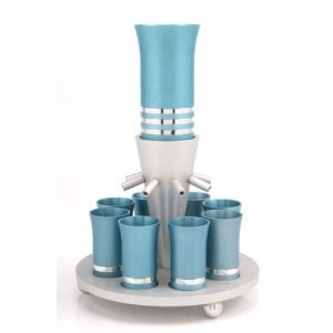 Wine Fountain in Teal by Agayof