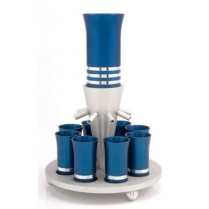 Elegant Blue Kiddush Fountain by Agayof