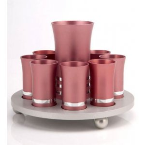 Agayof Kiddush Cup Set -Pastel Pink