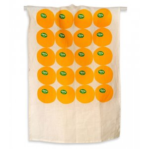 Barbara Shaw Orange Linen Dish Towel - Jaffa Oranges
