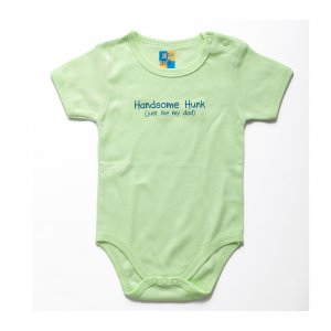 Barbara Shaw Short Sleeve Baby Onesie - Handsome Hunk Like Dad