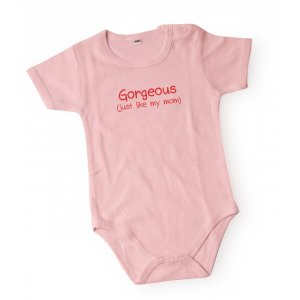 Barbara Shaw Short Sleeve Baby Onesie - Gorgeous Just Like My Mom