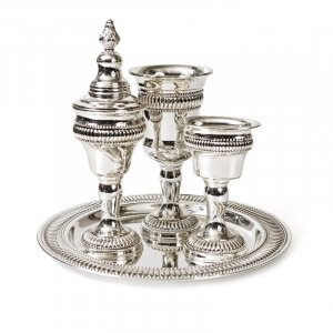 Regency Design Silver Plate Havdalah Set
