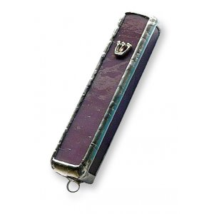 Friekmanndar Fused Glass Mezuzah Case - Violet