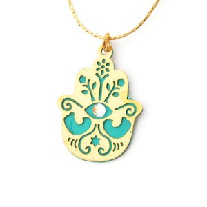 Hamsa Pendant Against the Evil Eye by Shahaf