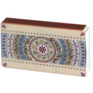Dorit Judaica Lucite Matchbox Holder - Pomegranate Arc Design
