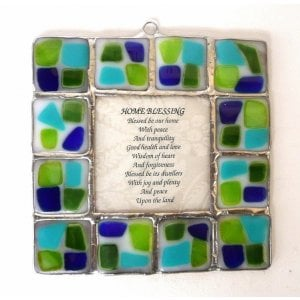 Fused Glass Wall Blessing by Friekmanndar