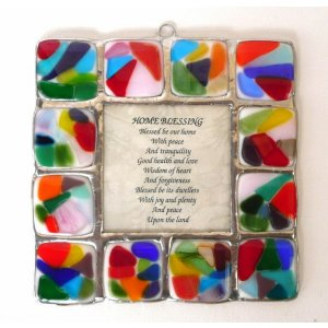 Fused Glass Rainbow Wall Blessing by Friekmanndar