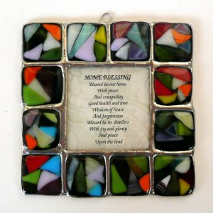 Fused Glass Blessing by Friekmanndar