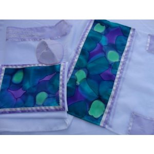 Spring Fragrance Tallit Set by Galilee Silks