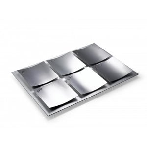 Stainless Steeel Dune Design Seder Plate by Laura Cowan