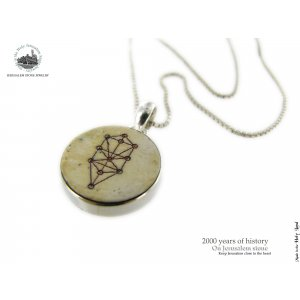Kabbalah Tree of Life Jerusalem Stone Necklace