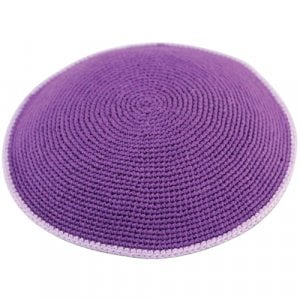 Purple DMC Knitted Kippah