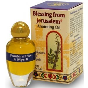 Blessing from Jerusalem Frankincense and Myrrh Anointing Oil with Biblical Spices (12ml - 0.4fl.oz)