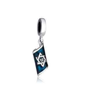 Sterling Silver Mezuzah Style Charm