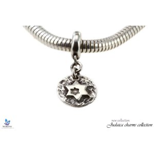 Sterling Silver Star of David Bracelet Charm
