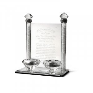 Decorative Crystal Candlesticks with Blessing