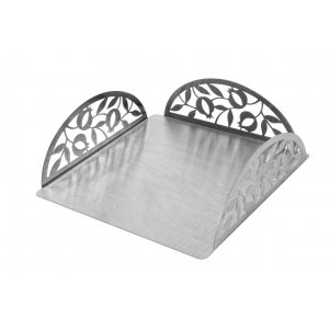 Dorit Judaica Flat Square Matzah Holder - Pomegranates Design