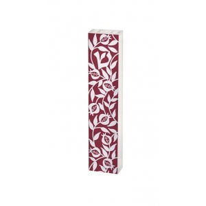 Dorit Judaica Pomegranates Lucite Mezuzah Case - Red and White